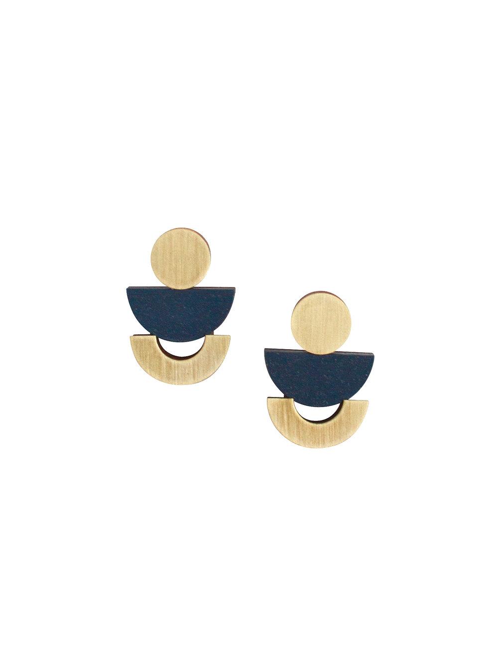 Luna Stud Earrings Blue