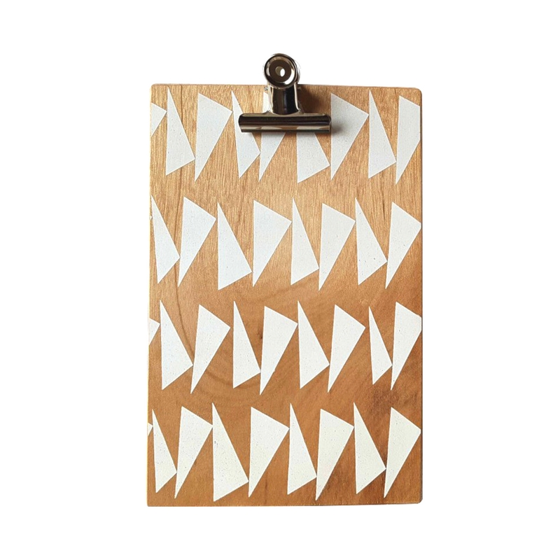 2. Large Clip Board - by Ding Ding.  Also the Ding Ding Stationery products are fab, I love screen printed wood and stationery so its a winner for me. I had the pleasure of meeting Jenna last year and she was lush!