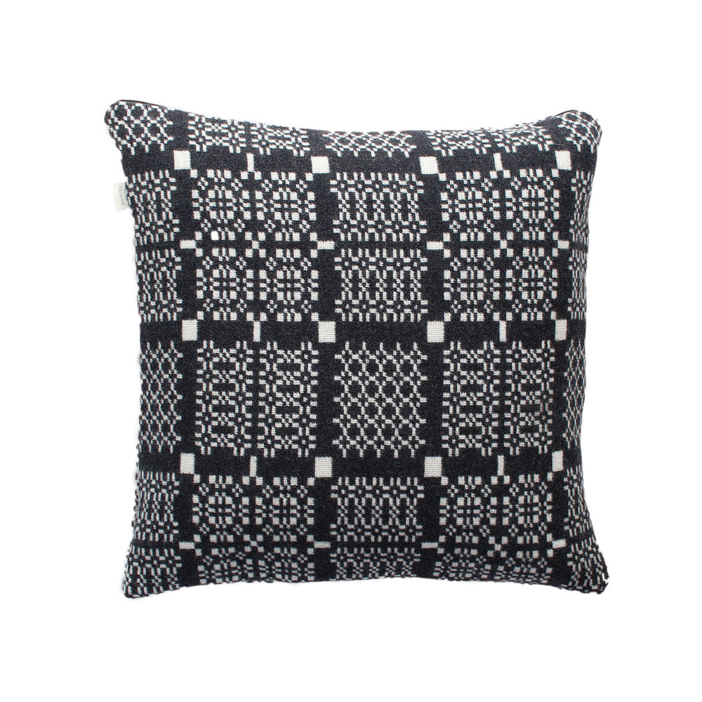 2.Knot Garden Graphite Cushion - by Melin Tregwynt.I'm an absolute sucker for a bit of Melin Tregwynt and this would be my own personal cushion that I wouldn't let anyone else sit on!