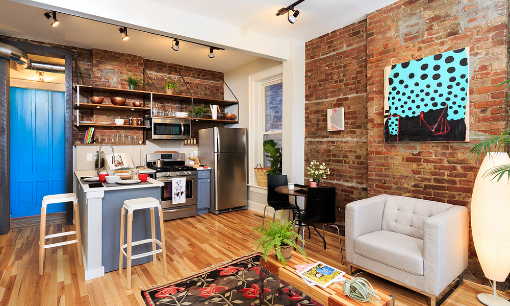 Collaboratively-staged space at 246 Third Street, Troy, NY