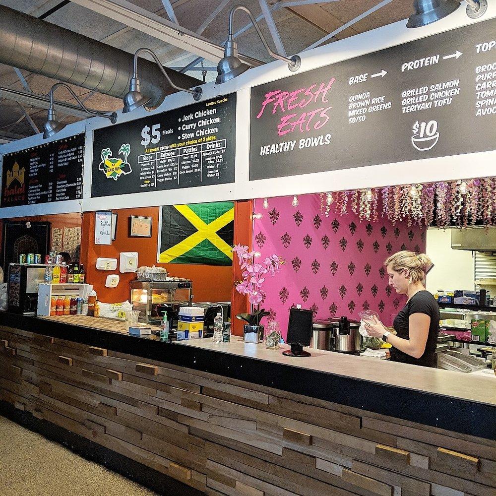 Halal Palace ,  M&K Island Hut  and Fresh Eats