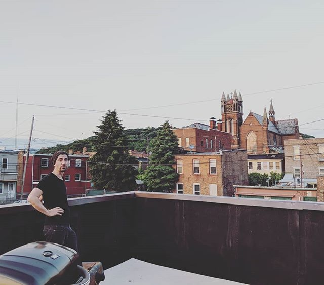 Rooftops are for scheming. #collectiveworks #collarcitycollective #ourmeetings