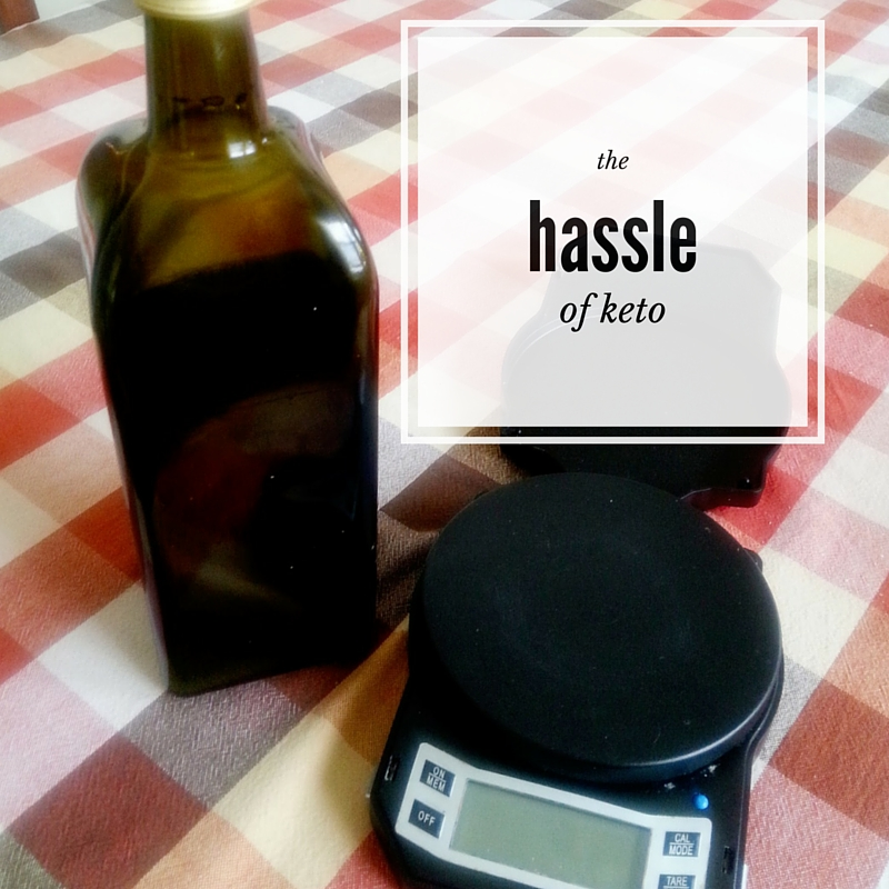I can find olive oil in most places, but I can't go anywhere without a gram scale.