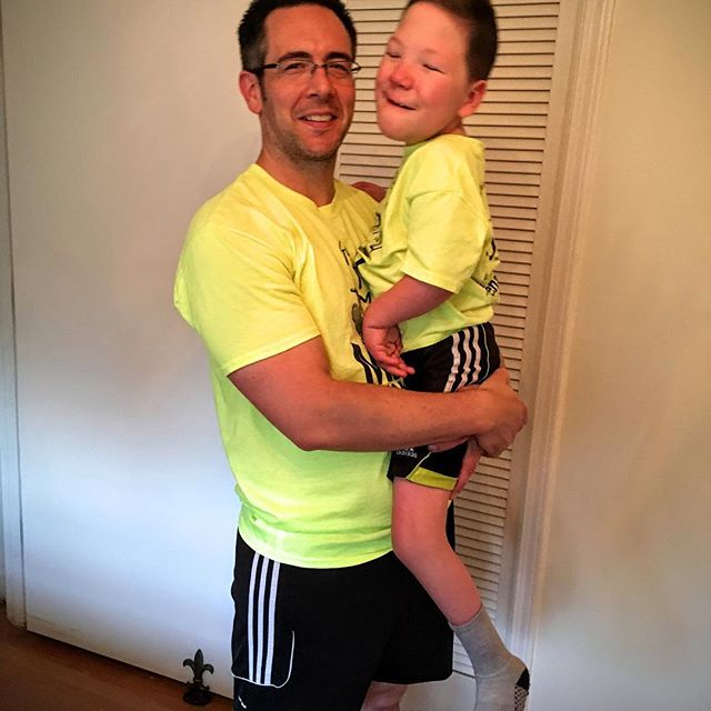 My handsome guys in their matching Molly Johnson Foundation gear. #mj5k