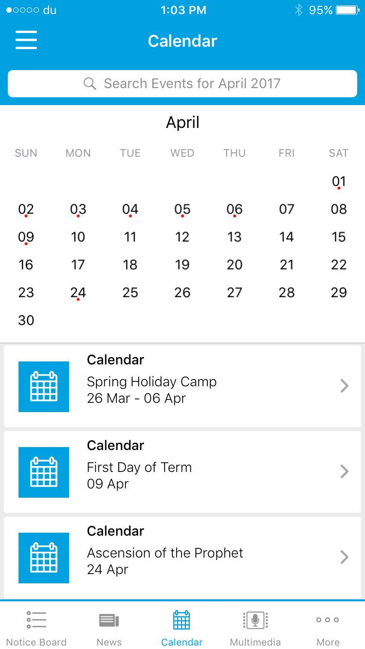Communicator Calendar