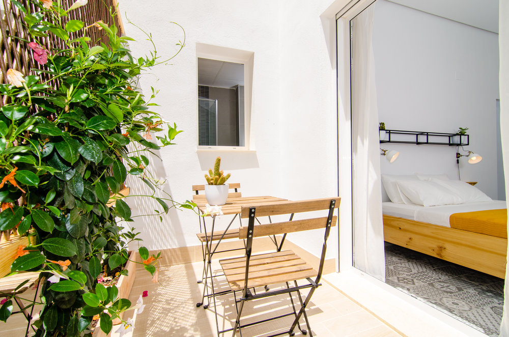 Patio of double room at Zalamera B&B in Valencia, Spain.jpg