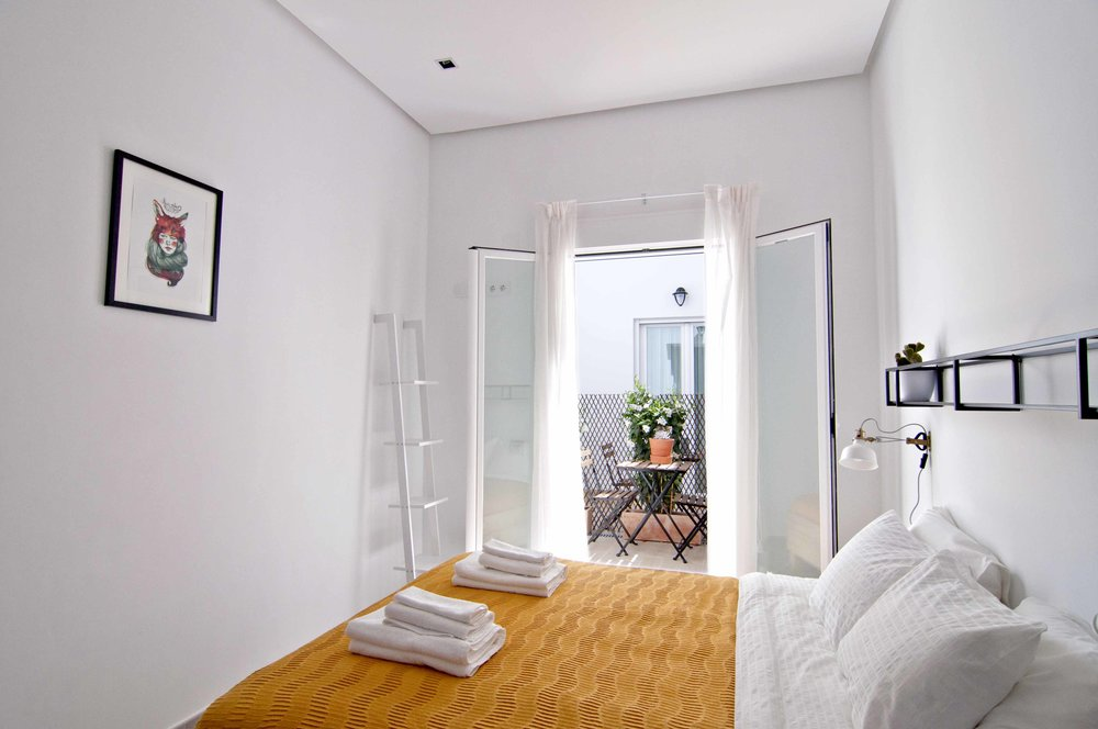 Double room with patio at Zalamera B&B in Valencia, Spain.jpg