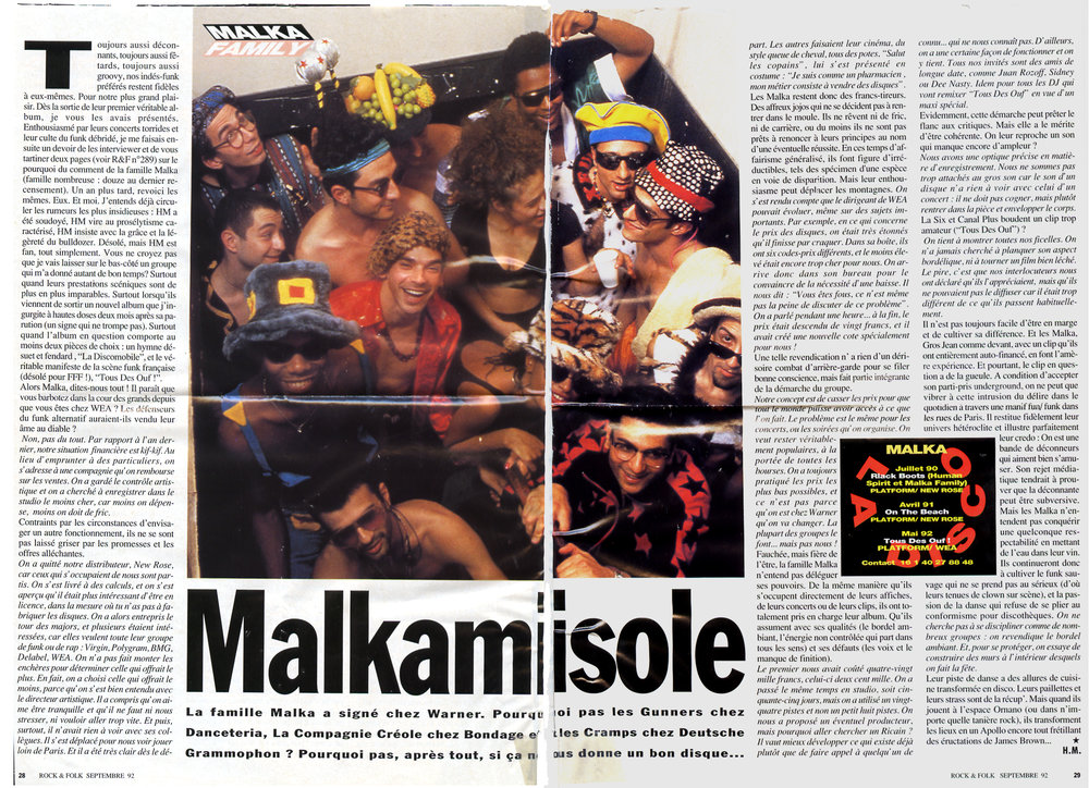 Rock & Folk Septembre 1992