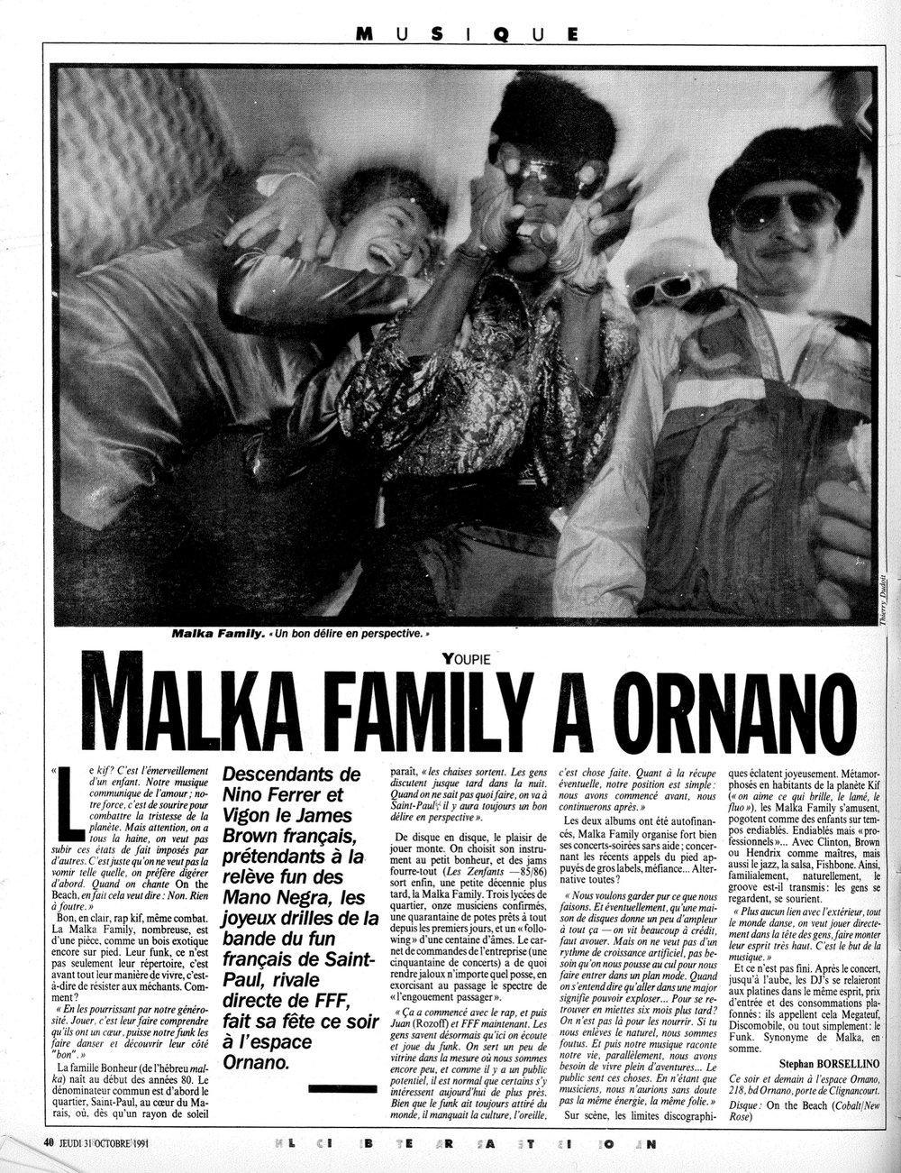 Libération 31 octobre 1991