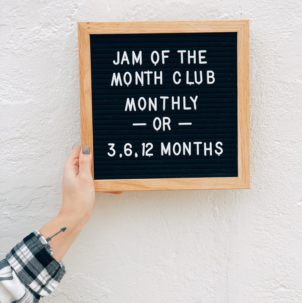 JOIN JAM OF THE MONTH CLUB - The perfect gift option for anyone! With the option of 3, 6, or 12 months, the right sized gift is here. When you gift a Jam of the Month Club subscription, each month the giftee will get a jam shipped directly to their house!The flavors that you receive WILL NOT be available anywhere else! Click here to shop!