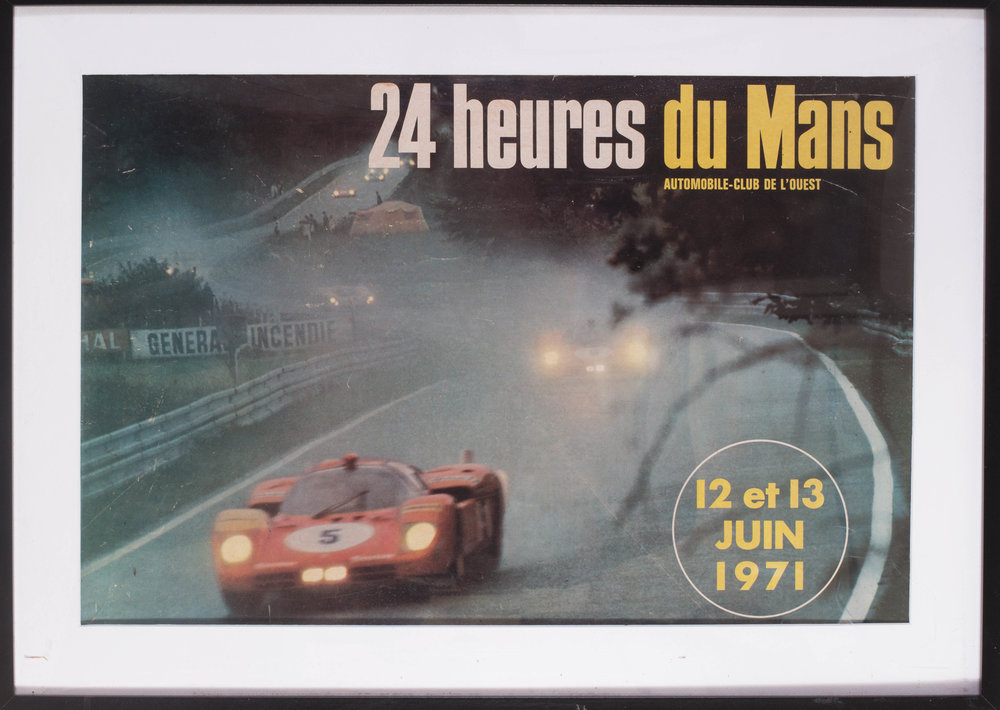 1971 Le Mans poster  24 heures du Mans, 12 & 13 Juin, 1971  15 x 22.1/2in. (38 x 57.2cm.)   Price: £500