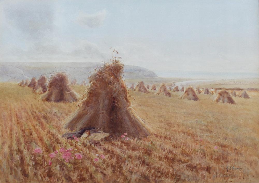 George Shaw (British, 1843-1915) Near The Cuckmere Valley, Sussex Price: £820