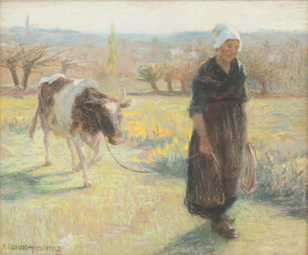 Emmy Leuze-Hirschfeld (French, 1884-1971) 'The milkmaid' Price: £1200