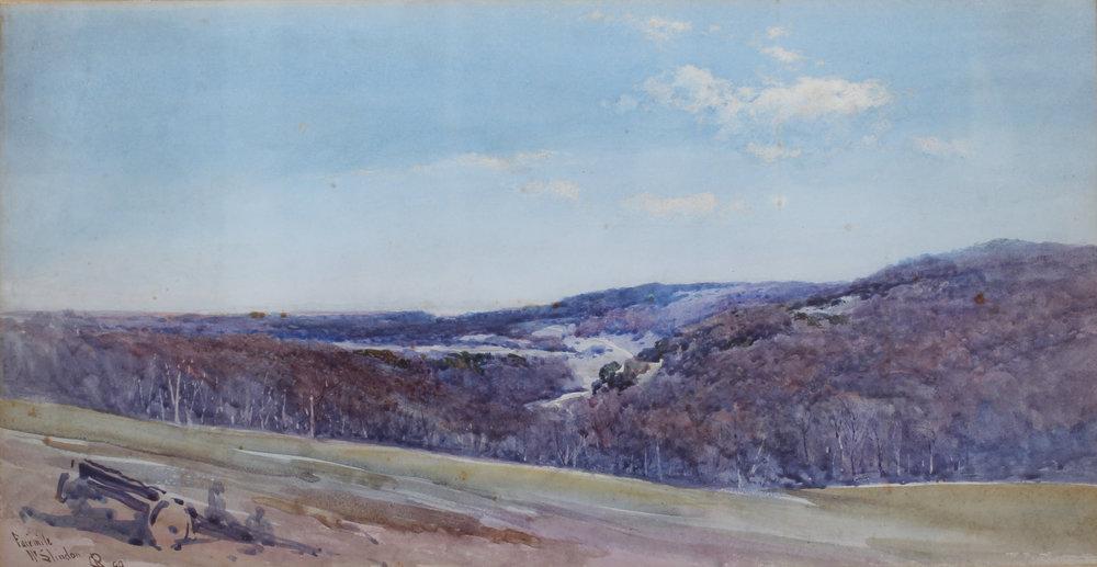 Charles Edmund Rowbotham (British, 1856-1921) 'Fairmile, near Slindon, Sussex', 1899 Price: £650