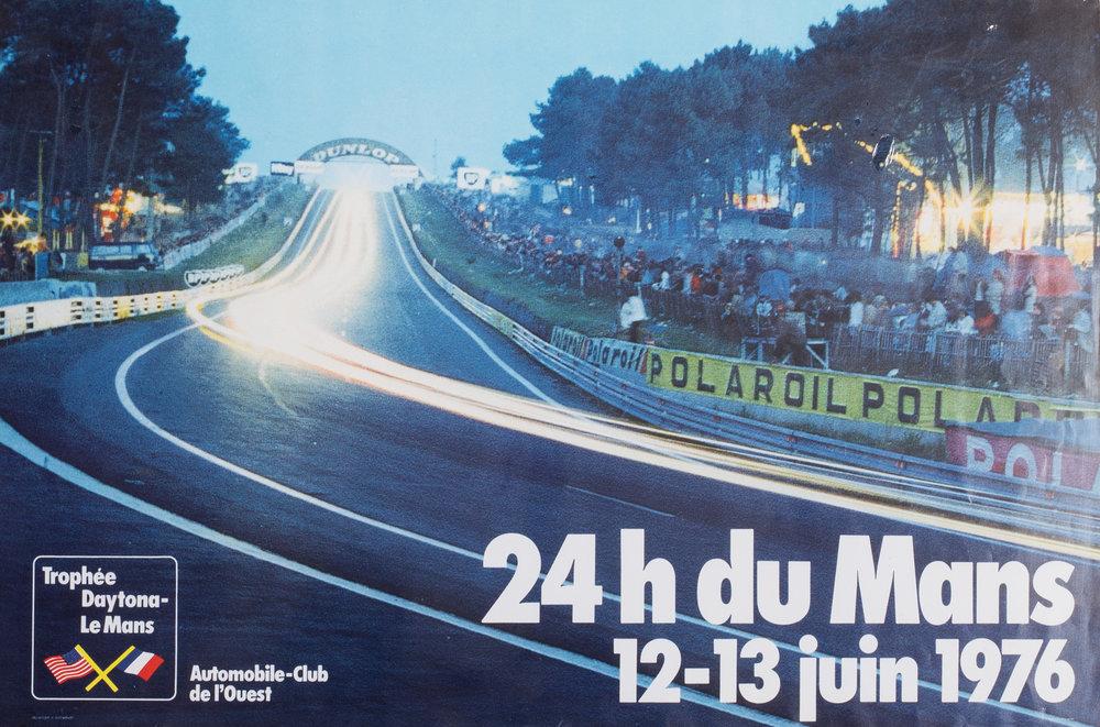 1976 Le Mans poster  24 heures du mans  Price: £250  Unframed