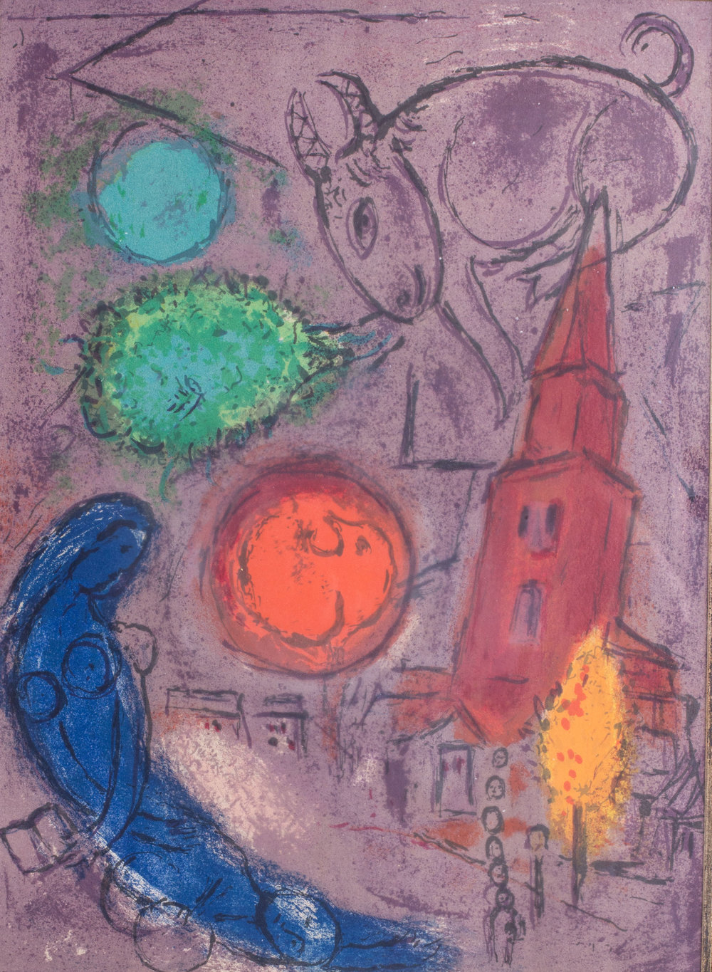 Marc Chagall (Russian-French, 1887-1985)    'Saint Germain des Pres, 1953'     Price: £5,200