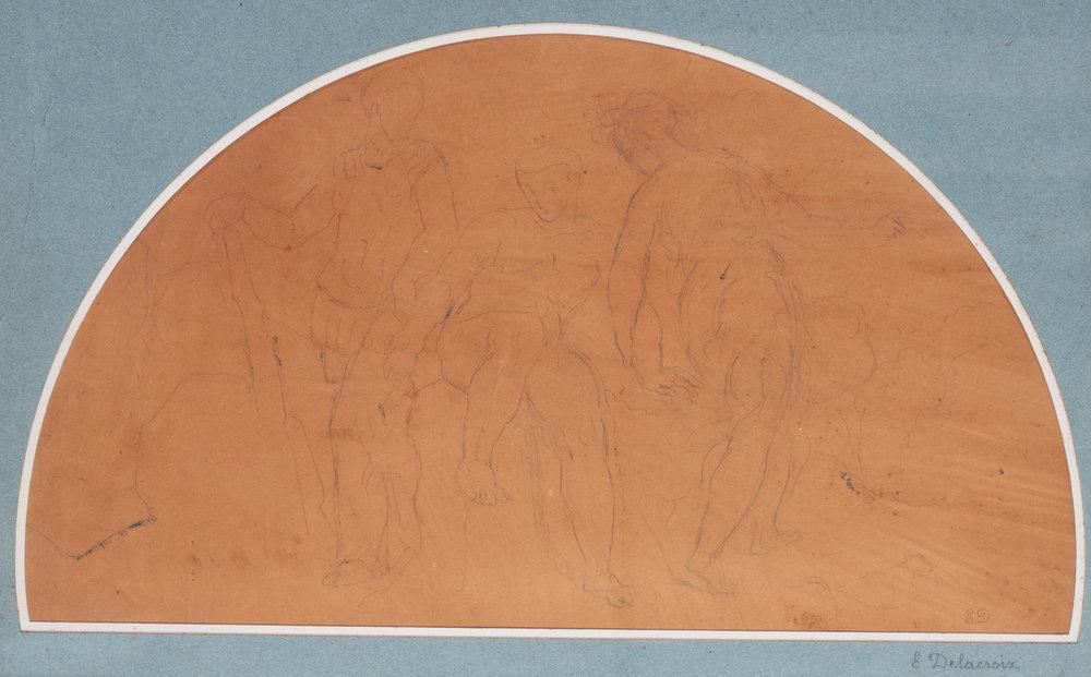 Ferdinand Victor Eugène Delacroix 'Study for Hercules Entre Le Vice et la vertu' Price: £2,550