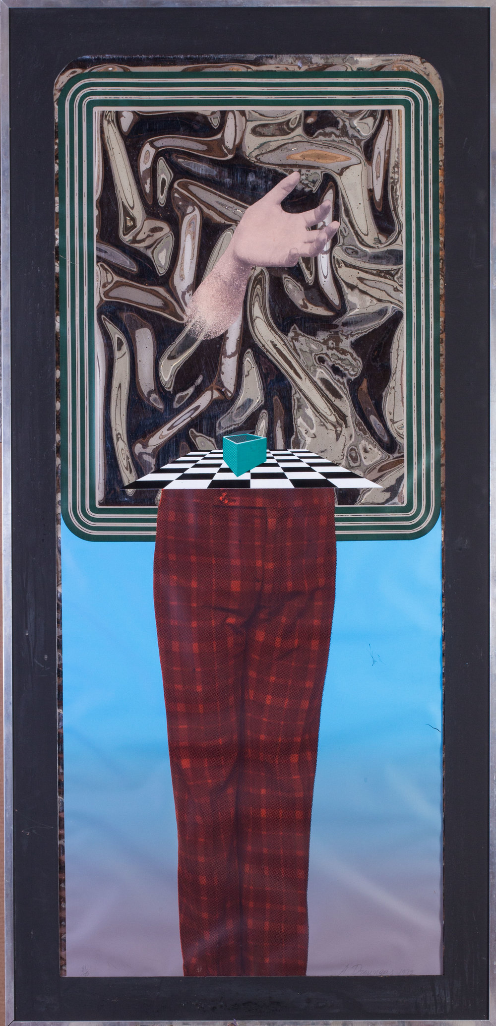 Achilleas Droungas (Greek, b.1940)     Trousers   Signed and dated 'A. Droungas, 1972' numbered 21/35   Silkscreen   59.3/4 x 28.3/4in. (152 x 73cm.)   From the Redfern Gallery, Cork Street   SOLD