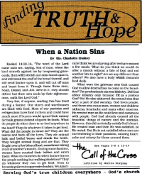 Finding Truth and Hope: Issue #1 (Dec. 2014)