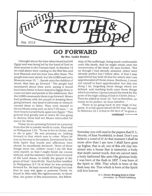 Finding Truth and Hope: Issue #7 (Fall 2016)