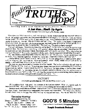Finding Truth and Hope: Issue #8 (Winter 2017)