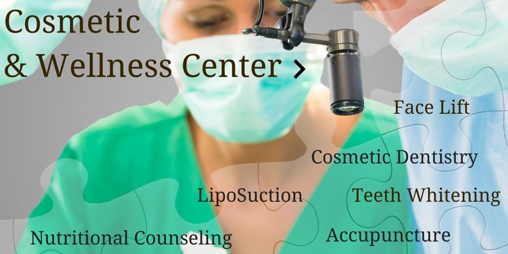 comprehensive cosmetic and anti aging services are available at 11th and myrtle. Including:Chiropractic, Cosmetic dentistry, cosmetic surgery, lipo suction and smart lipo.