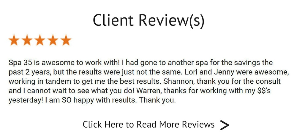 Google Review By Spa 35 Client Click to Read More