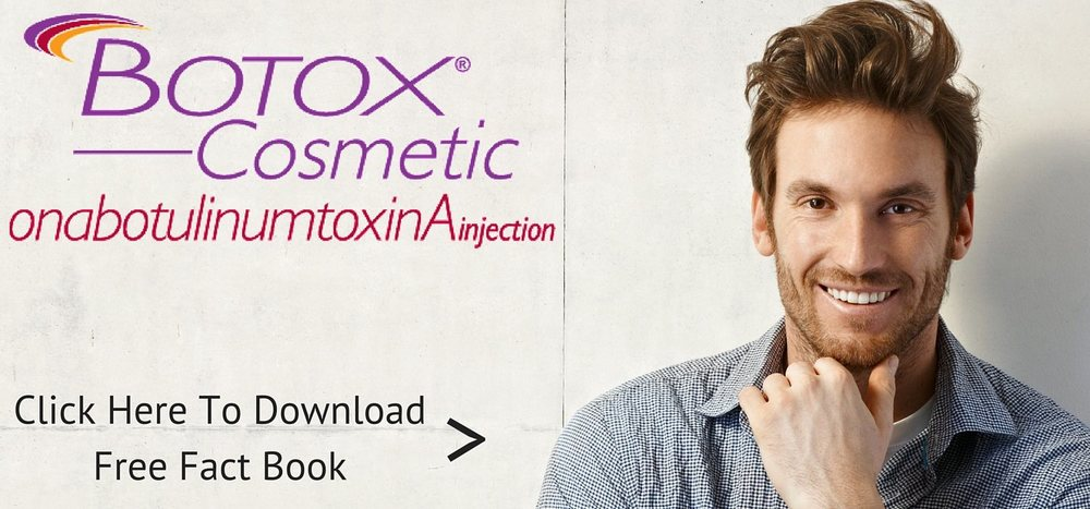 Botox for men, crows feet, forehead anti aging treatments
