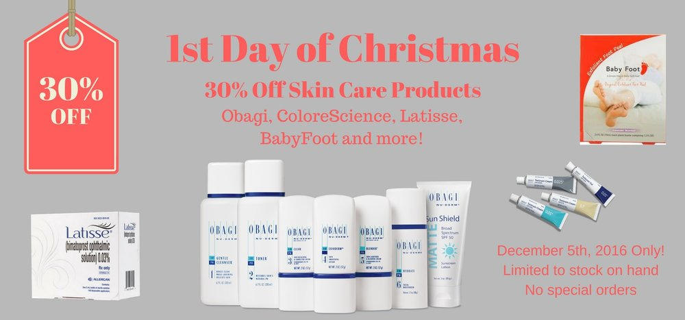December 5th is the 1st of Christmas Special at Spa 35 Med Spa.