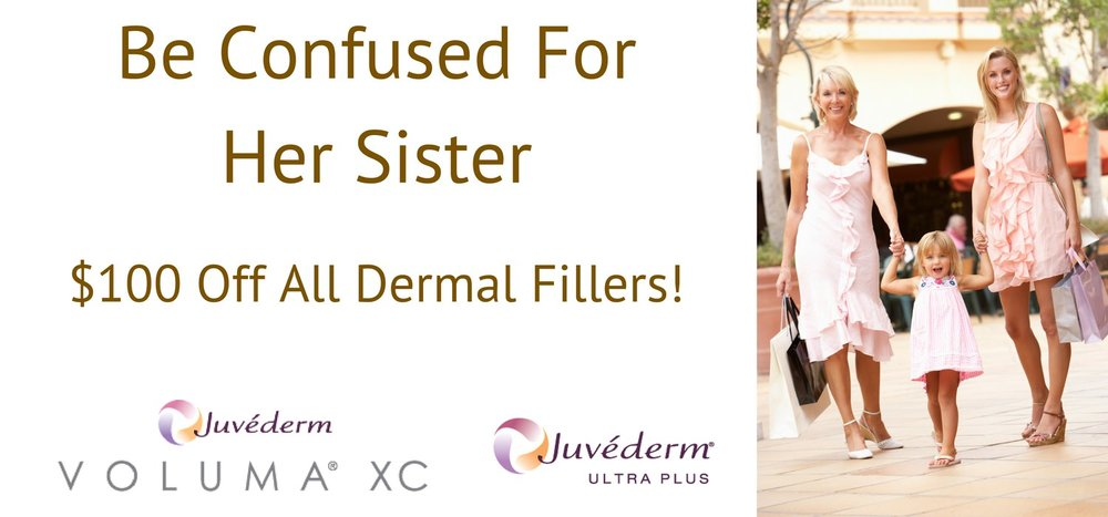 Return your face to a younger looking you with cosmetic dermal fillers for your cheeks, mouth and lips! As we age our cheeks, mid-face and lips lose their plump youthful appearance. Cosmetic fillers replace that lost volume, rolling back the hands of time. Most popular cosmetic filler injections are: Juvederm®, Juvederm Voluma®, and Restylane®.
