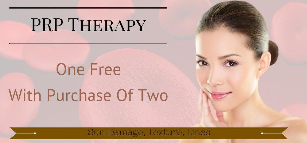 PLATELET rich plasma PRP to repair sun damage, improve texture, tighten skin, improve fine lines