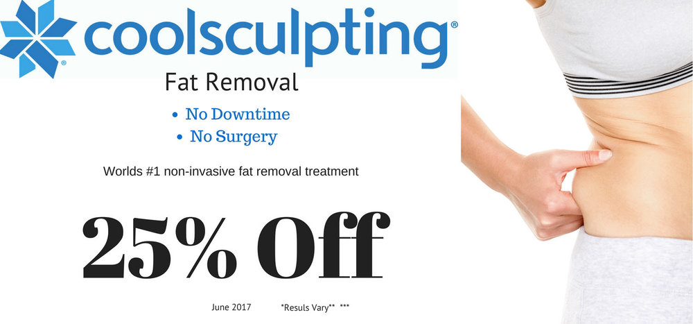 CoolSculpting is 25 Percent off in June 2017 remove fat from arms belly more