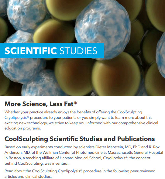 CoolSculpting Scientific studies page