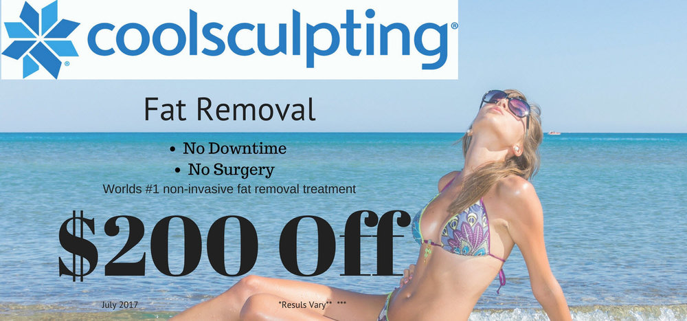 CoolSculpting Non-Surgical fat removal two hundred dollars off