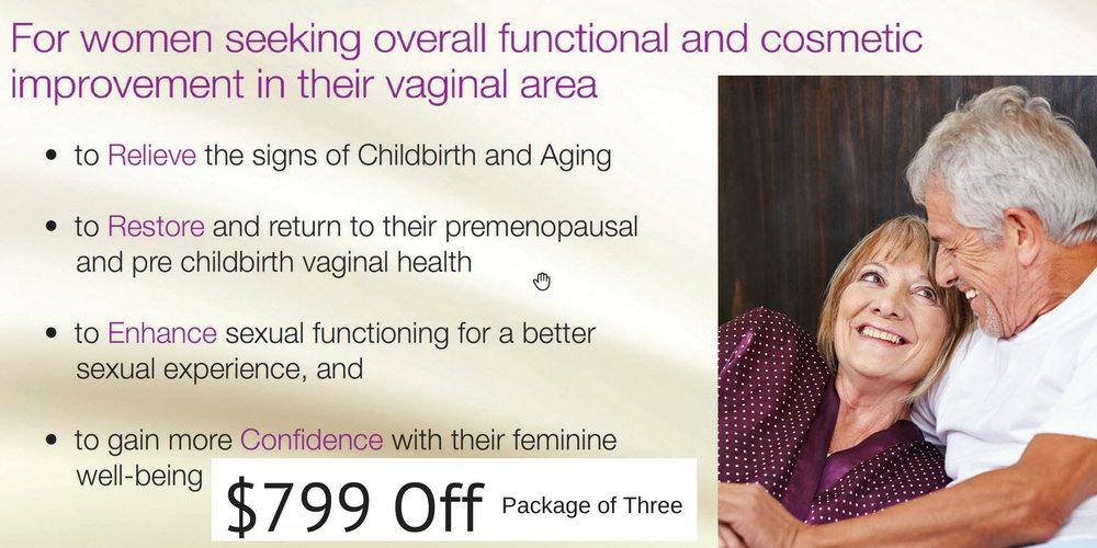 Vaginal Rejuvenation seven hundred ninety nine off in July promotion