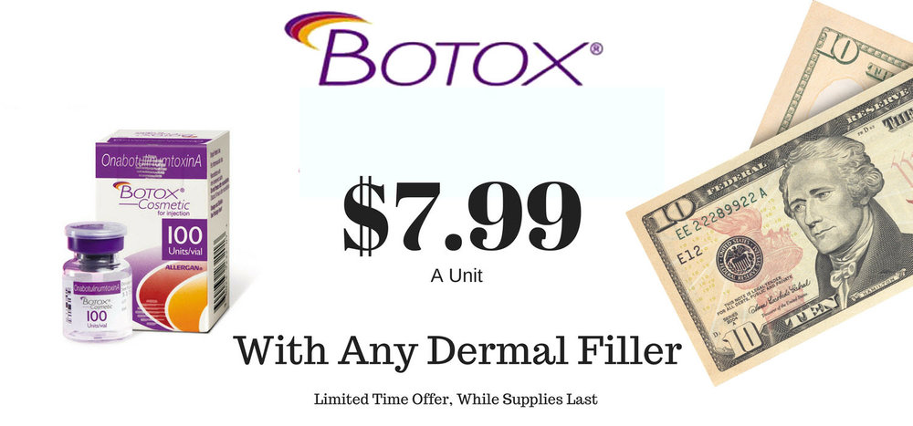 Purchase any dermal filler and get huge savings on Botox