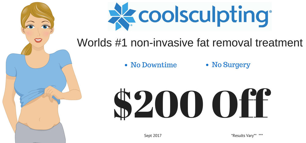 coolsculpting fat removal is on sale for $200 off each treatment in September at Spa 35 med spa