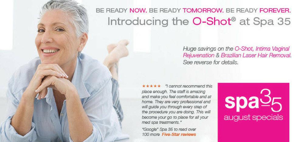 September specials on vaginal rejuvenation, O Sot and brazilian laser hair removal at Spa 35 med spa