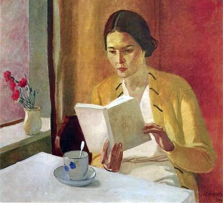 Aleksandr Aleksandrovich Deyneka, Young Woman Reading, 1934