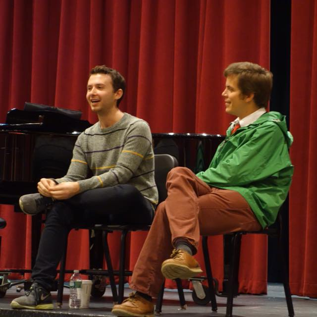 Benji and Jonathan at a talkback for the show in 2015