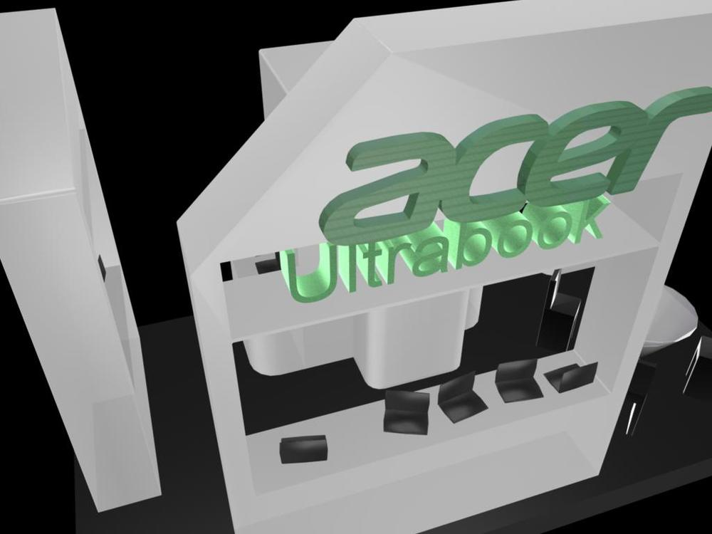 Exhibition design for acer Ultrabook