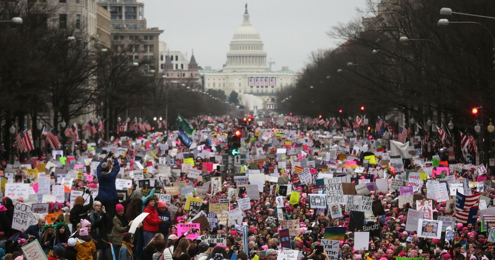 Photo by Refinery 29, Women's Protest in Washington D.C., January 21, 2017