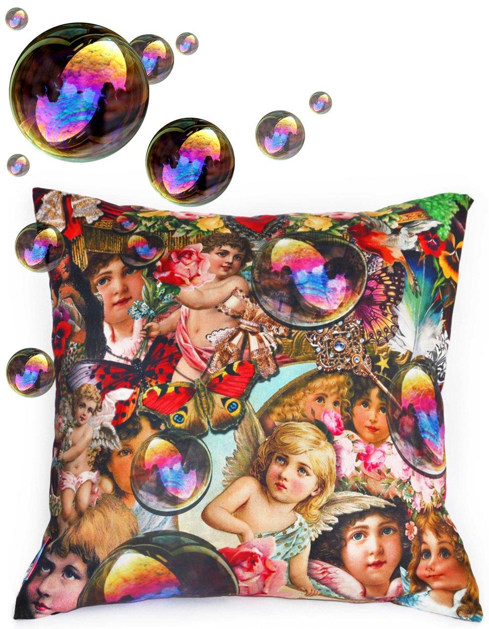 Angel Cherub Decoupage Throw Pillow