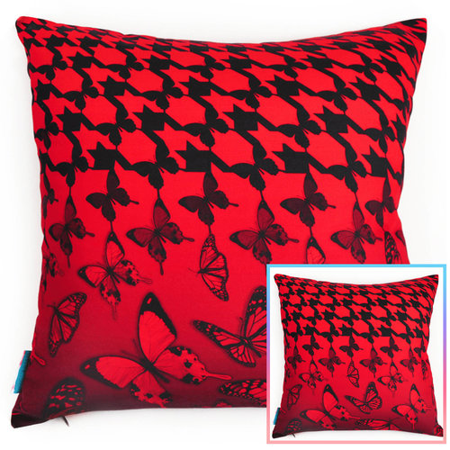Butterfly Brigade Scarlet Red Pillow — THROW PILLOWS & INTERIOR