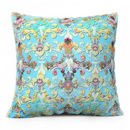 French Fleur De Lis Pillow In Duck Egg Blue Throw Pillows
