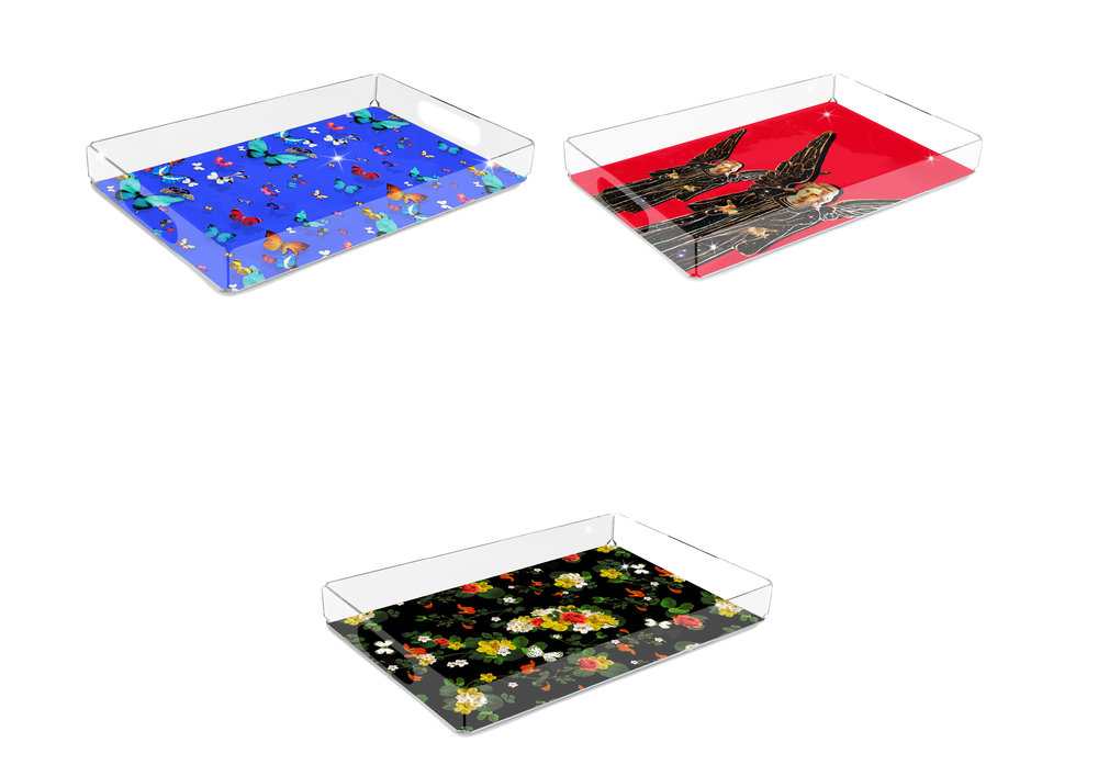 SHOP SERVING TRAYS - ACRYLIC & WOODEN