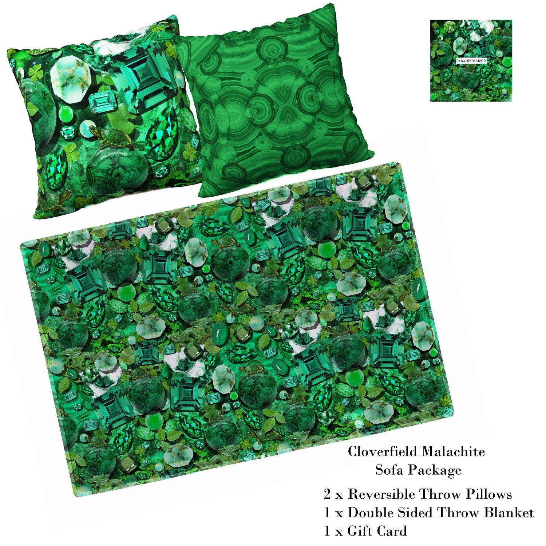 CLOVERFIELD EMERALD GREEN SOFA PACKAGE