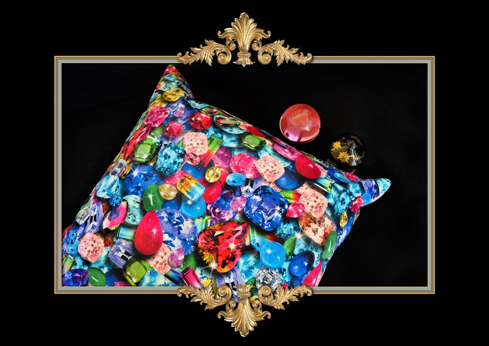 GEMSTONE PRINT PILLOW
