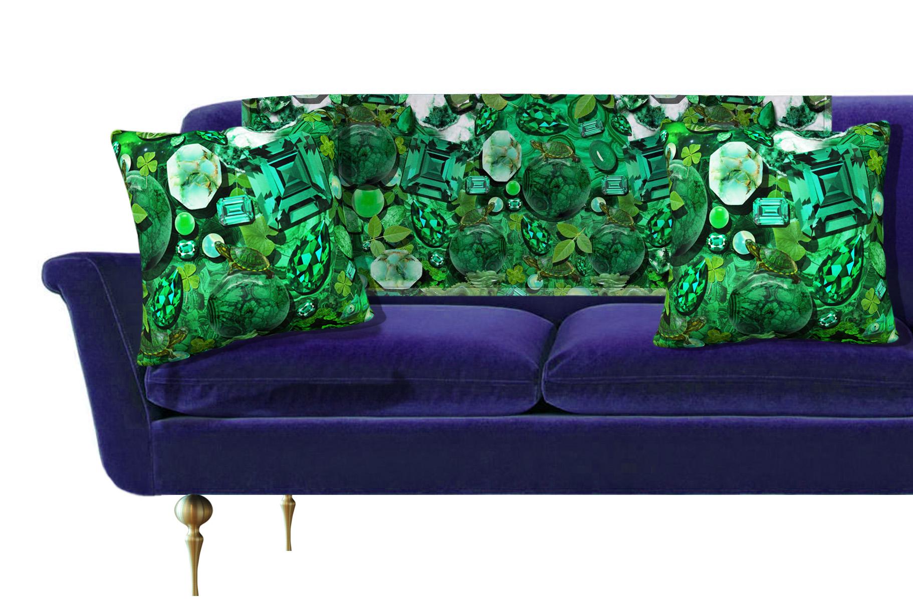 Cloverfield Emerald Green Sofa Package — THROW PILLOWS & INTERIOR ...