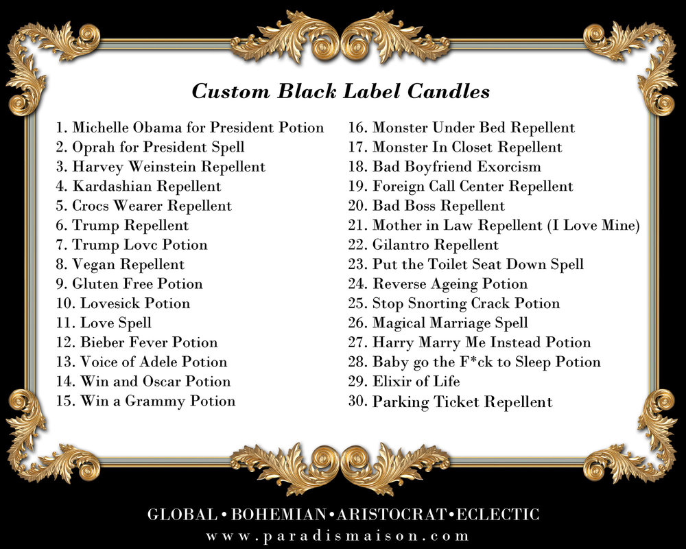 custom candle text